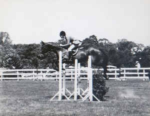 Anna-Rivet-Riding-Without-Stirrups-at-Ox-Ridge-in-1971